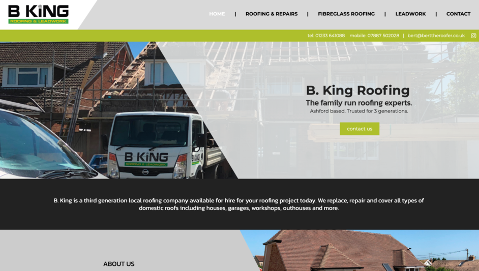 Example of a website built for a Kent based builder