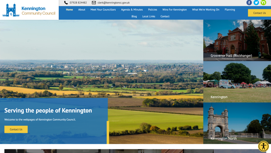 Web design screenshot for a Kent based dentist